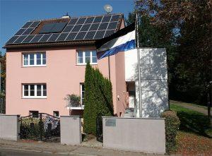 Unser Haus von der Heidenheimer Straße aus gesehen